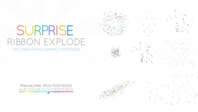 Surprise Confetti Explosions: Stock Motion Graphics