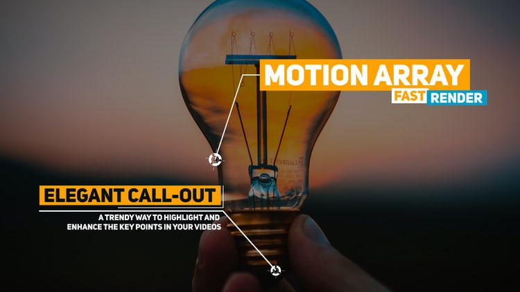 Elegant Call Outs: Motion Graphics Templates