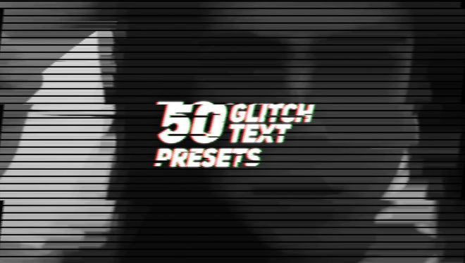 Glitch Text Animation Presets: Premiere Pro Presets