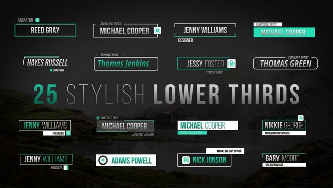 Stylish Lower Thirds: After Effects Templates