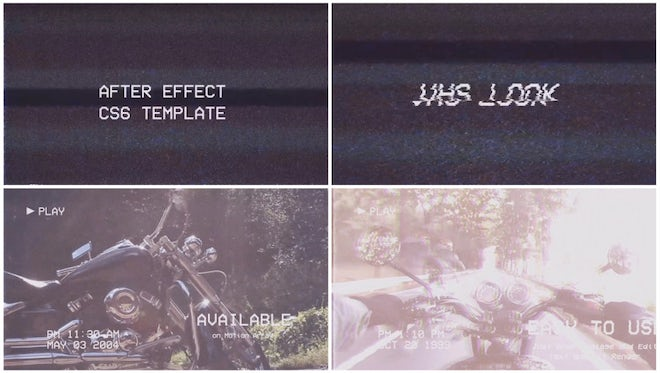 VHS Look Opener: After Effects Templates