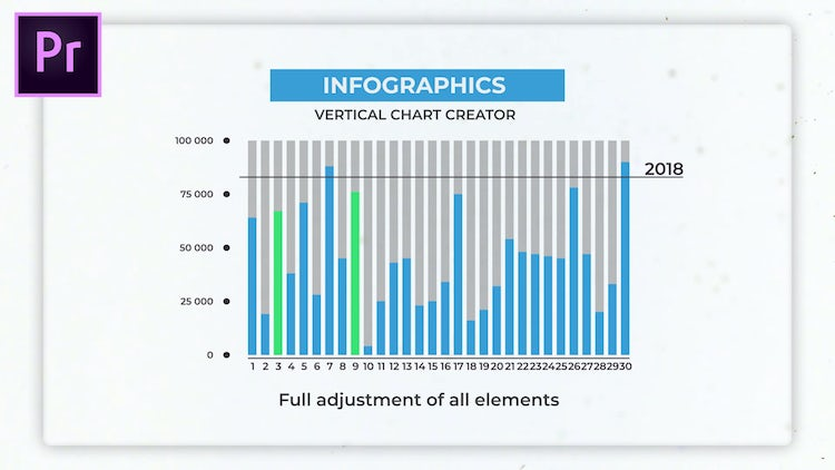 Infographics: Vertical Chart Creator: Motion Graphics Templates