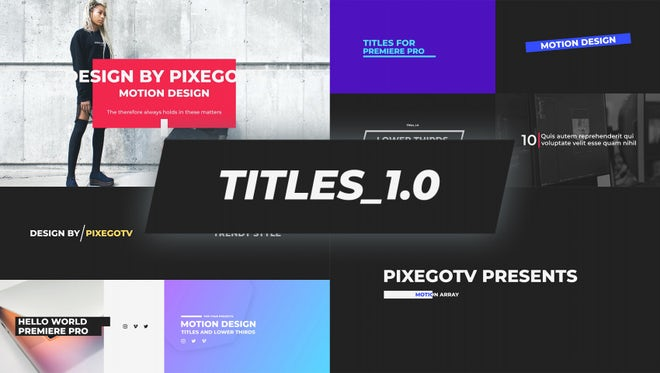 The Titles / Typography Pack: Premiere Pro Templates