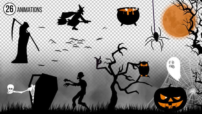 Halloween Animations Kit: Stock Motion Graphics