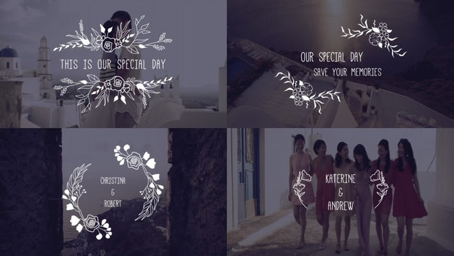 Clean Wedding Titles: After Effects Templates