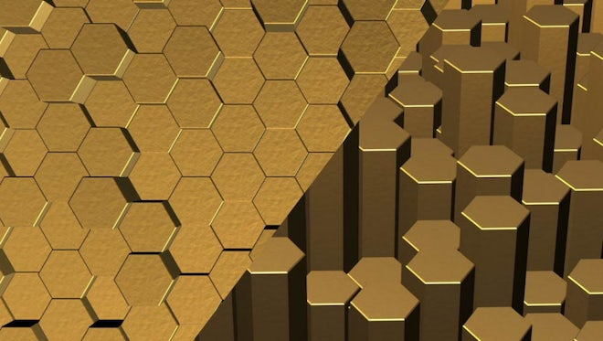 Gold Hexagons Pack: Stock Motion Graphics