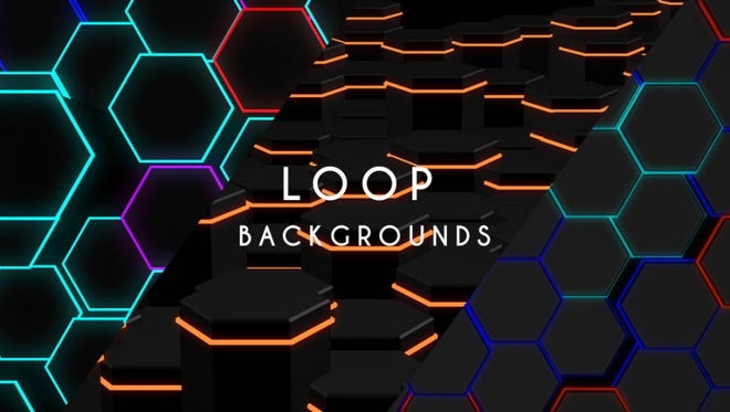 Neon Hexagons Pack: Stock Motion Graphics