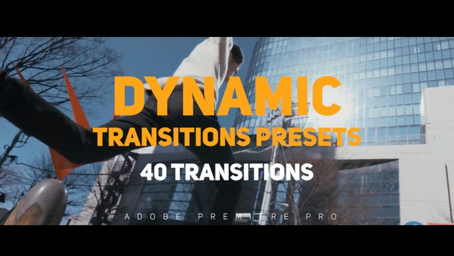 Dynamic Transitions Presets: Premiere Pro Presets