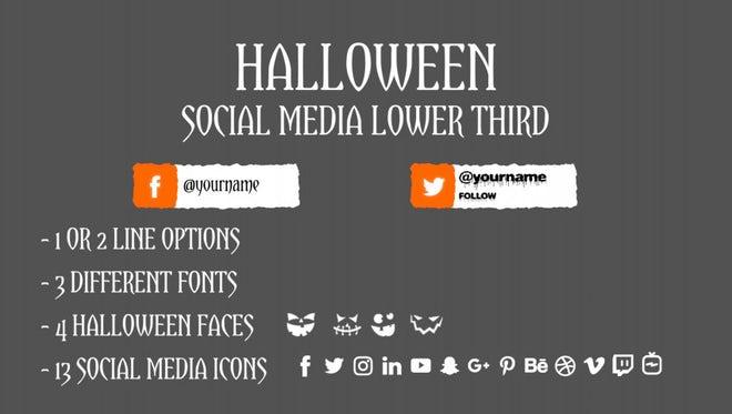 Halloween Social Media Lower Third: Motion Graphics Templates