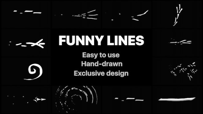 Flash FX Funny Lines: After Effects Templates