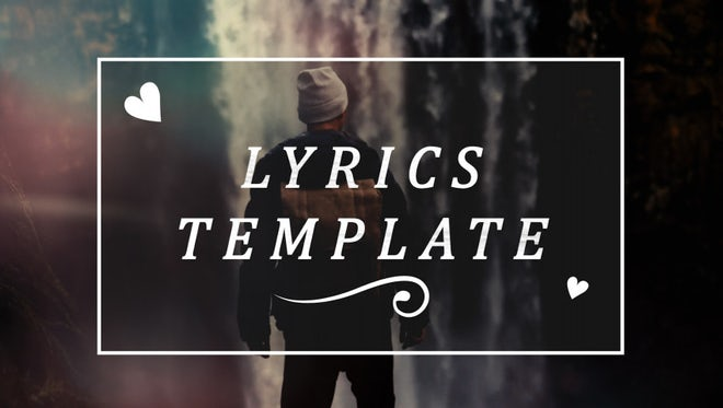 Lyric Video Titles: Premiere Pro Templates
