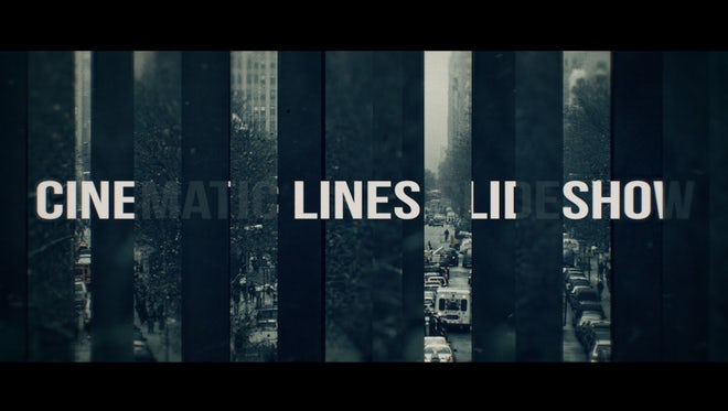 Cinematic Lines Slideshow: Premiere Pro Templates