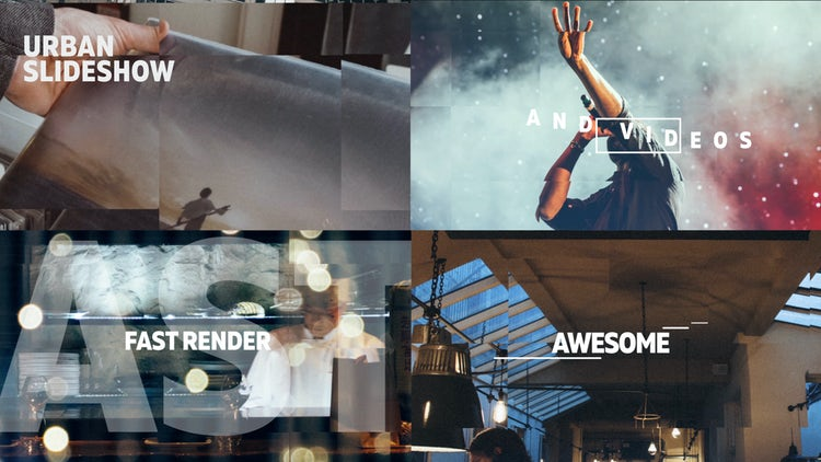 Typo Urban Slideshow: After Effects Templates