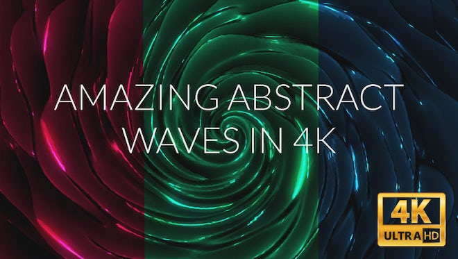 Amazing Abstract Waves In 4K: Stock Motion Graphics