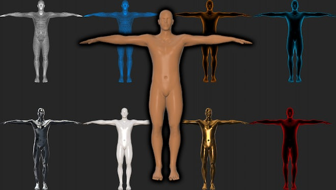 Holographic Human Figure Loop Pack: Stock Motion Graphics