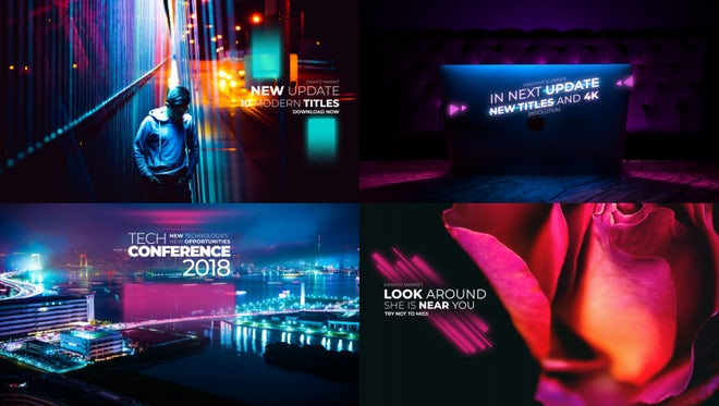 Big Glitch Titles: After Effects Templates