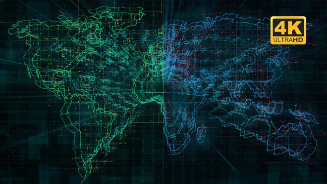 Digital World Map Looped Pack: Stock Motion Graphics