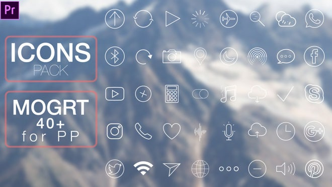 Icons: Motion Graphics Templates