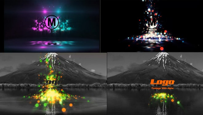 Particles Bounce Logo Reveal: After Effects Templates