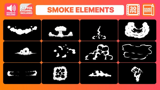 Hand Drawn Smoke FX: Stock Motion Graphics