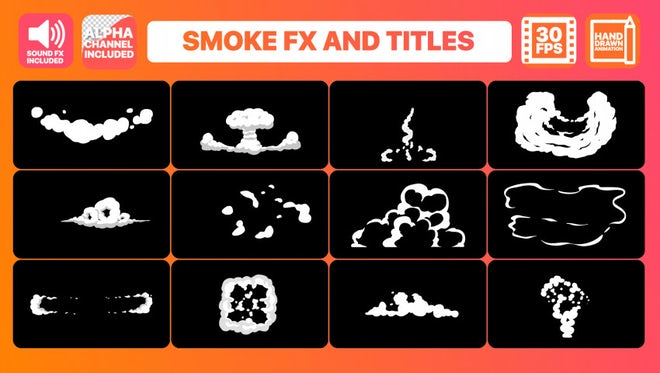 Hand Drawn Smoke FX and Titles: After Effects Templates