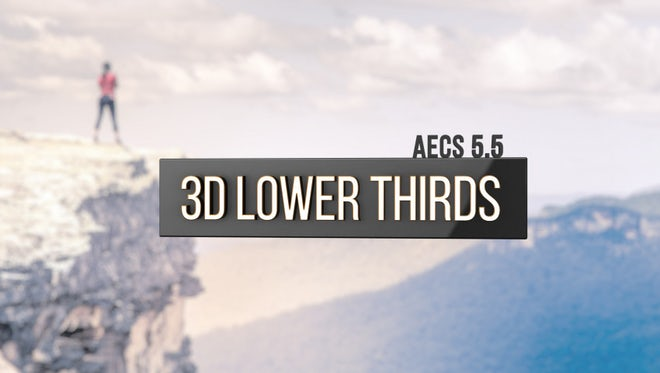 3D Lower Thirds: After Effects Templates