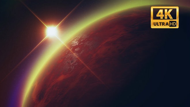 Red planet in deep space: Stock Motion Graphics
