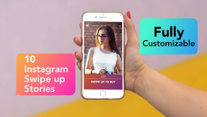 Instagram Swipe Up Stories: Motion Graphics Templates