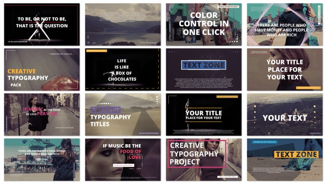 Minimal Typography / Social Media Titles: After Effects Templates