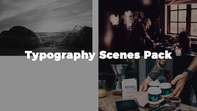 Typography Scenes Pack: After Effects Templates