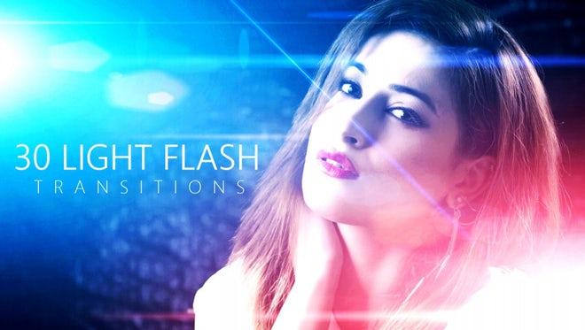 Light Flash Transitions: Stock Motion Graphics