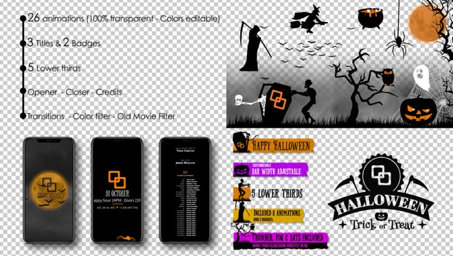 Halloween Kit: After Effects Templates