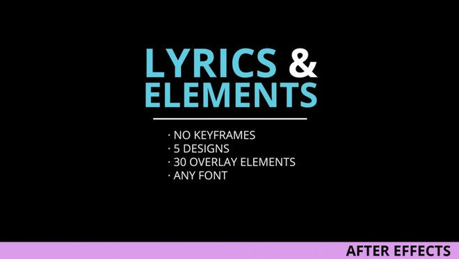 Lyrics and elements after effects templates motion array for After effects lyric video template