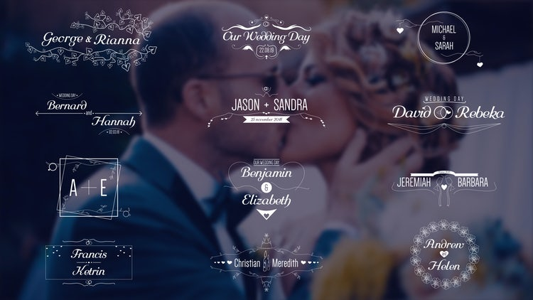 Wedding Titles 4k: Premiere Pro Templates