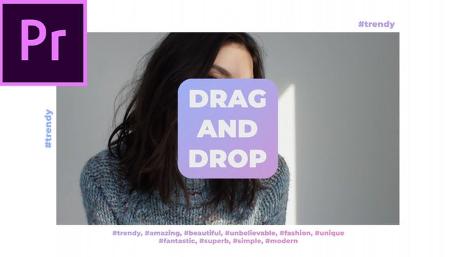 Trendy Fashion Media Opener: Premiere Pro Templates