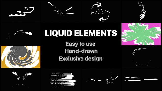 Liquid Motion Elements And Transitions: Stock Motion Graphics
