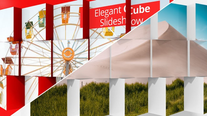 Elegant Cube Slideshow: After Effects Templates