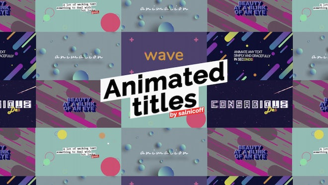 Animated Titles With Backgrounds: After Effects Templates