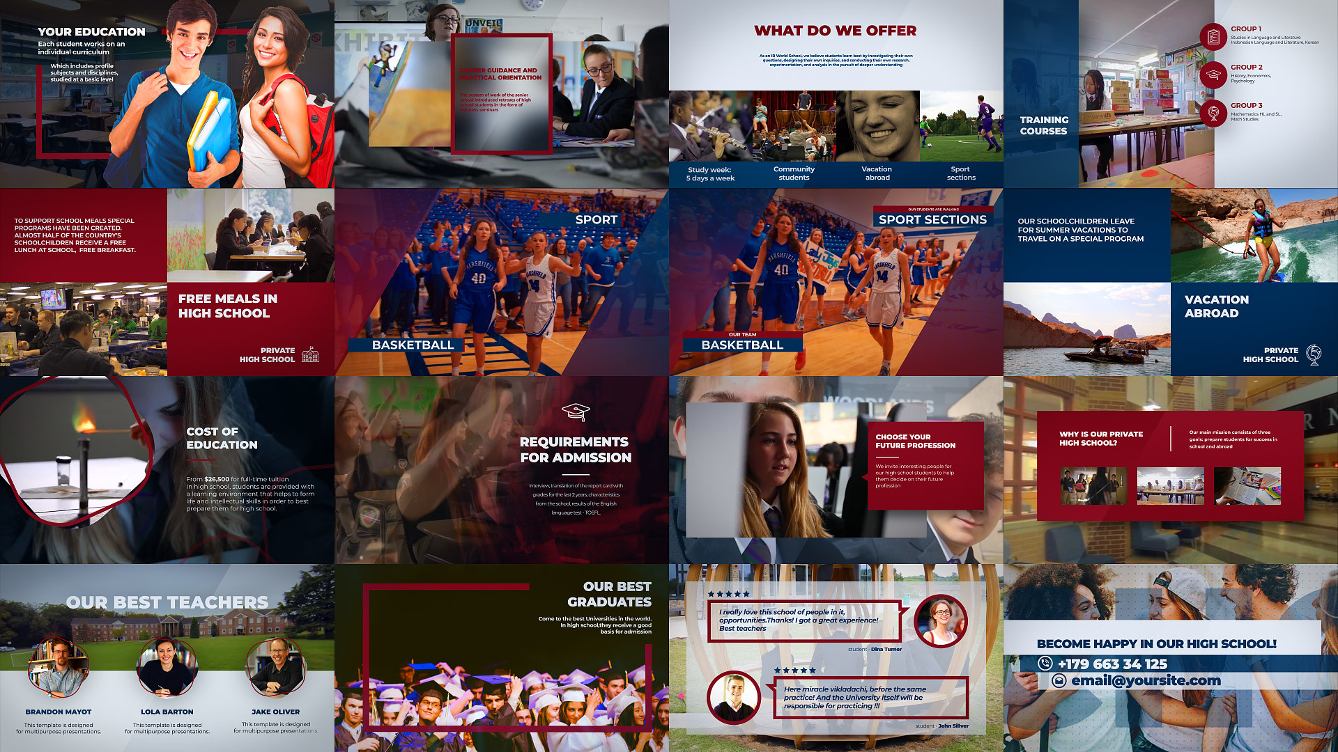College - High School Promo - After Effects Templates