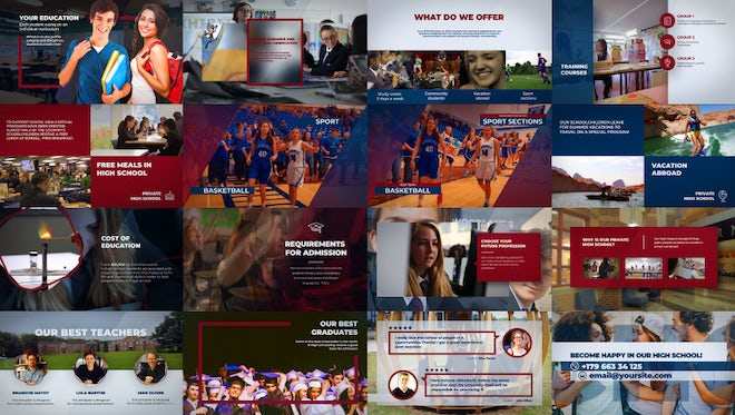 College - High School Promo: After Effects Templates