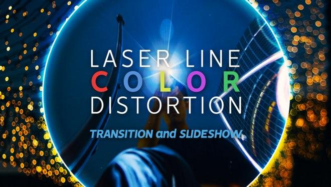 Laser Line Color Transitions & Slideshow: Premiere Pro Templates
