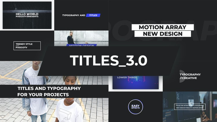 Typography pack after effects templates | motion array.