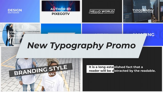 New Typography / Promo: After Effects Templates