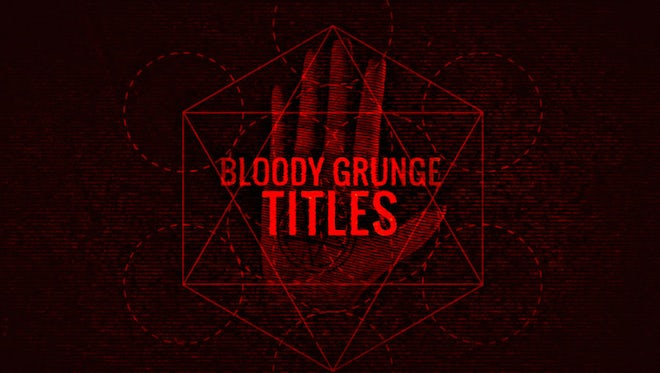 Bloody Grunge Titles: After Effects Templates