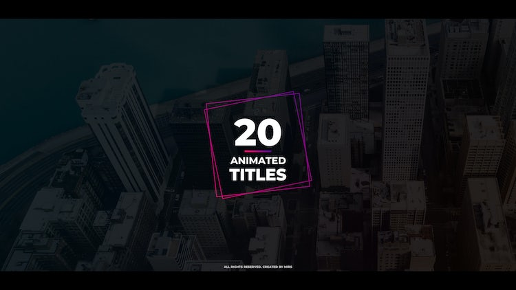 20 Animated Titles: Premiere Pro Templates