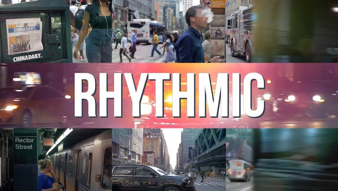 Stylish Dynamic Rhythmic Opener: After Effects Templates
