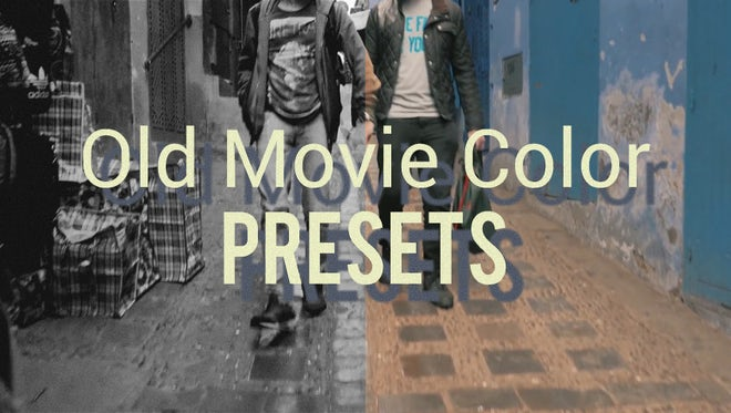 Old Movie Color Presets: Premiere Pro Presets