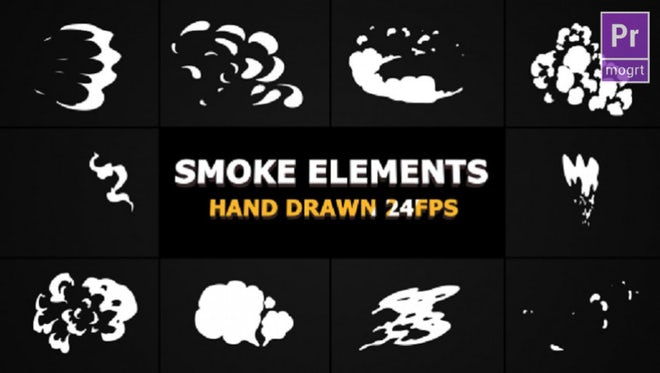 2D FX SMOKE Elements 24 fps: Motion Graphics Templates