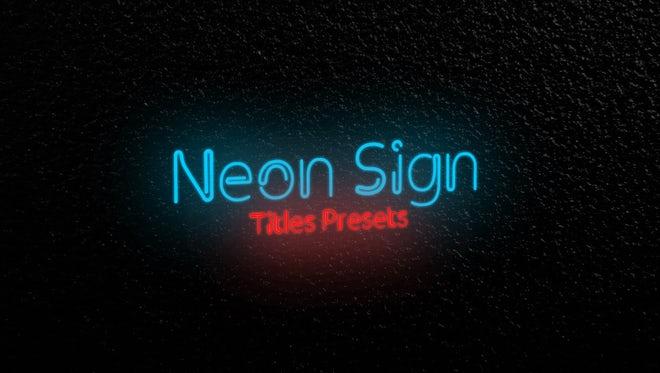 Neon Sign Titles Presets: Premiere Pro Presets
