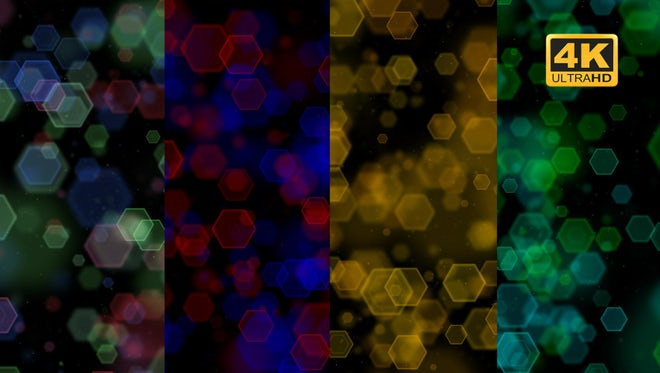 Hexagonal Bokeh Looped Pack: Stock Motion Graphics